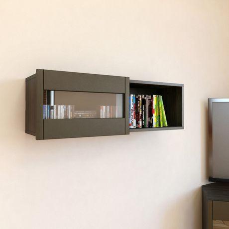 tablette murale avec porte coulissante nuance de nexera. Black Bedroom Furniture Sets. Home Design Ideas