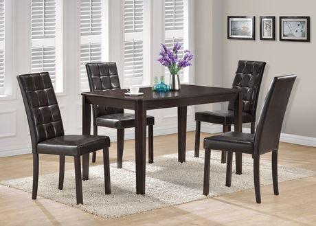 Chaises de salle manger en similicuir brun fonc de Cuisine brun noir
