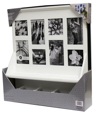 Hometrends wall organization collection frame with pegs for Picture frames organized on walls