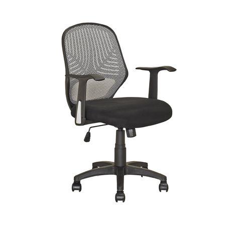 corliving lof 209 o chaise de bureau noir. Black Bedroom Furniture Sets. Home Design Ideas