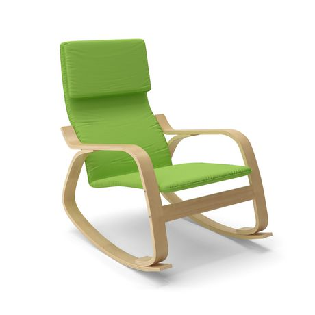 Corliving aquios bentwood contemporary rocking chair for Chaise bentwood