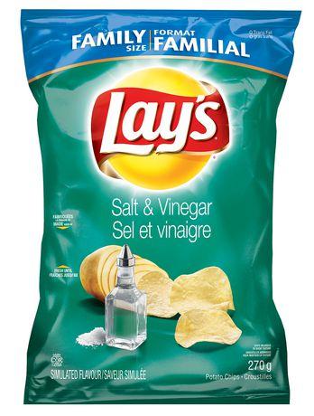 Lay 39 s croustilles sel et vinaigre - Vinaigre et gros sel ...