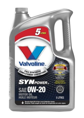 Valvoline Synpower Full Synthetic 0w 20 Motor Oil 5 L
