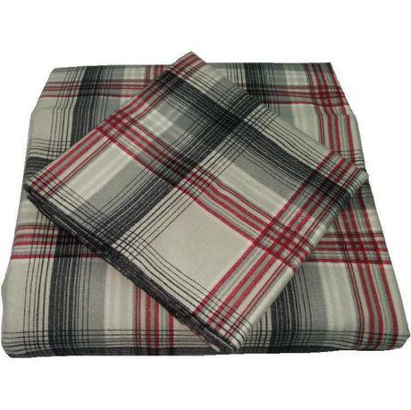 mainstays ensemble de draps en flanelle de coton. Black Bedroom Furniture Sets. Home Design Ideas