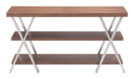 zuo modern chestnut perth extension dining table