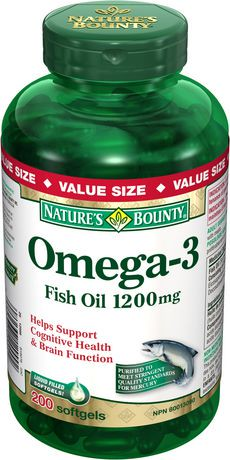 Nature 39 s bounty omega 3 1200 mg fish oil softgels for Nature s bounty fish oil 1200 mg