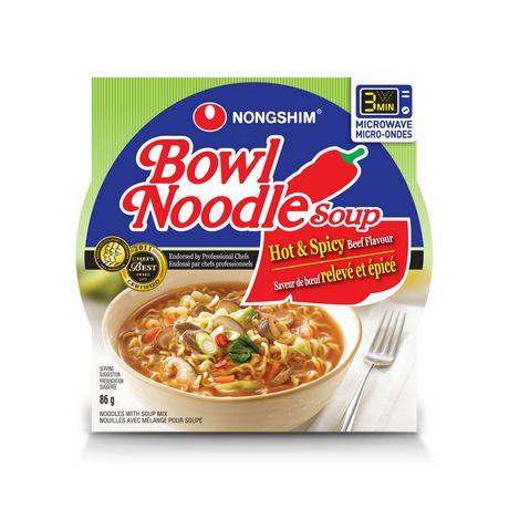 Nongshim Hot Amp Spicy Noodle Bowl Walmart Canada