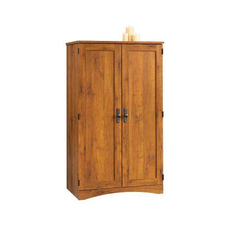 Armoire d ordinateur oak de sauder abbey - Armoire ordinateur fermee ...