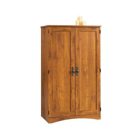 sauder abbey oak computer armoire walmart canada