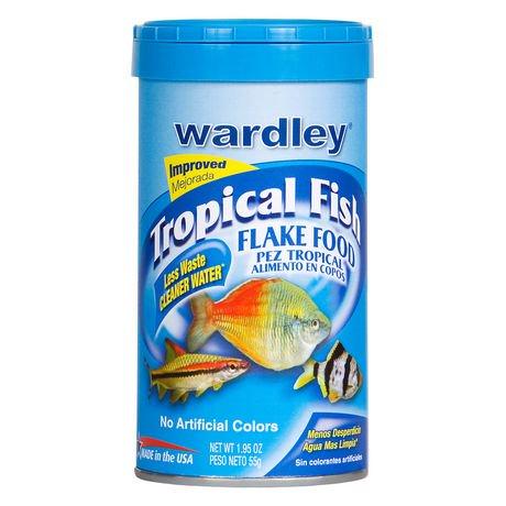 Nourriture en flocons pour poissons tropicaux de wardley for Flocon poisson