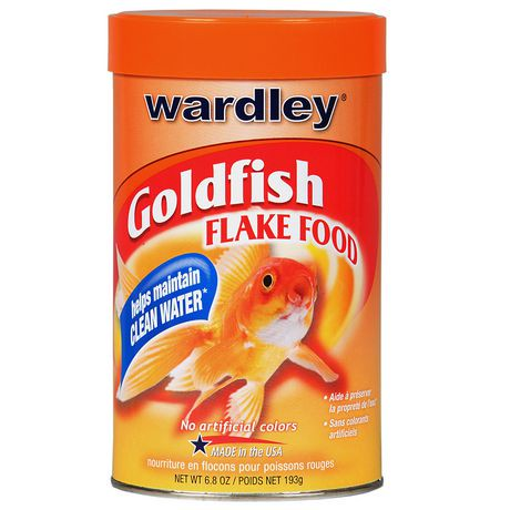 Nourriture en flocons pour poissons rouges de wardley for Flocon poisson
