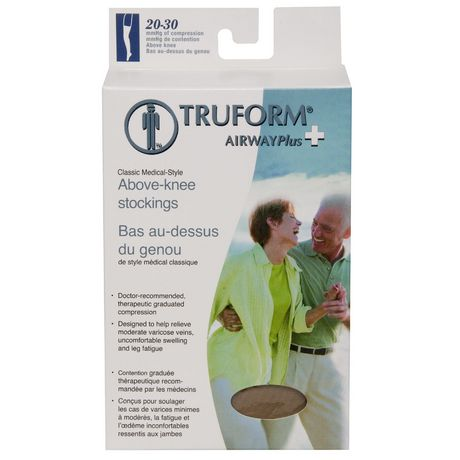Truform® Classic Medical Style Above Knee Stockings 20-30 mmHg - - Beige Medium |