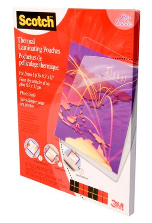 scotch thermal laminating pouches 50 pouch pack at. Black Bedroom Furniture Sets. Home Design Ideas