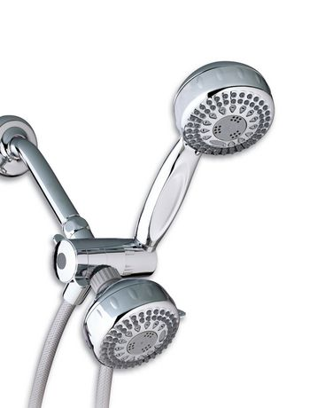 waterpik powerspray dual shower head 5 mode chrome. Black Bedroom Furniture Sets. Home Design Ideas