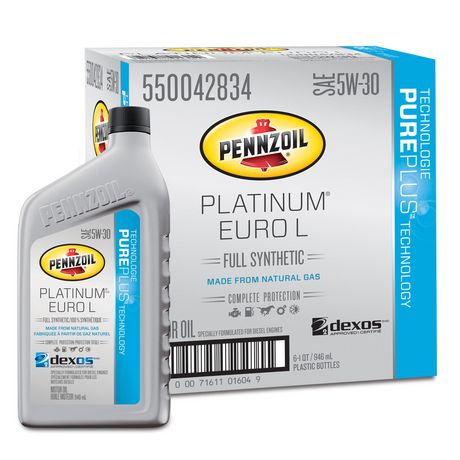 pennzoil platinum euro l sae 5w 30 full synthetic motor