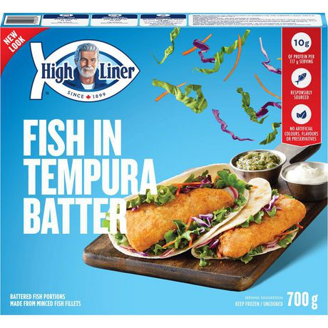 High liner tempura batter fish fillets 700 g for How much are fish at walmart
