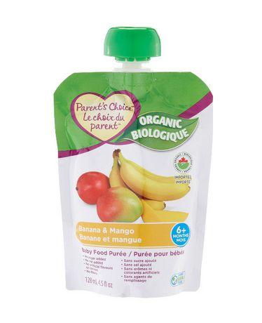 Parent's Choice Organic Banana & Mango Baby Food Purée | Walmart.ca