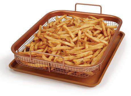 Copper Chef Crisper Non Stick Basket Amp Baking Sheet