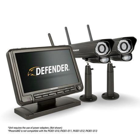 defender digital wireless security system with 2 night