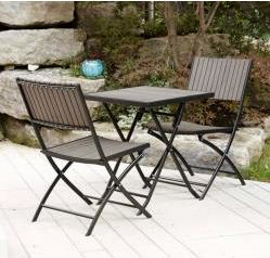 Hometrends Composite Wood Bistro Set 3 Pieces Walmart Canada