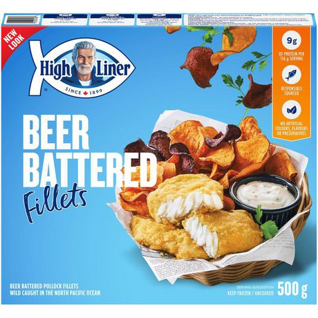 High liner beer battered fish fillets 500 g for How much are fish at walmart
