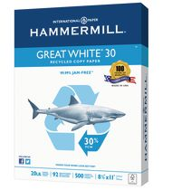 Hammermill Great White 30 Recycled Paper