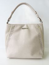 Jordache Hobo with Side Zip Accents Bag Cream