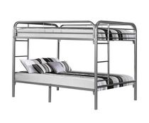 Silver Metal Full Bunk Bed