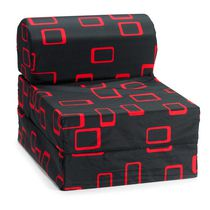 Comfy Kids Flip Chair - Black & Red