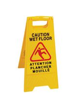 DuraPlus®- Yellow Caution Foldable Wet Floor Sign