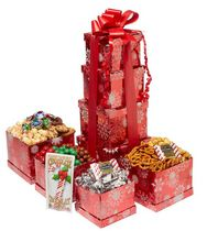 Baskets by On Occasion Snowflake Holiday Tower Gift Basket