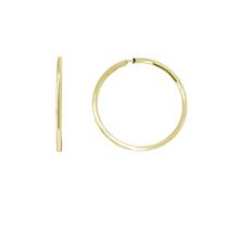 Aurelle- 10KT Yellow Gold 10MM Endless hoop earrings