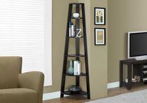 "Monarch Specialties Bookcase - Cappuccino, 72""H"