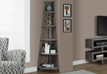 "Monarch Specialties Bookcase - Dark Taupe, 72""H"