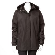 George Women's Transitional Hooded Jacket Black S/P