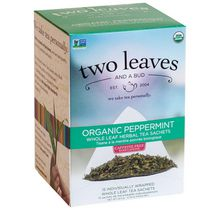 Two Leaves and a Bud, Inc Organic Peppermint Herbal Tea