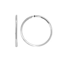 Aurelle-14KT White Gold 13mm medium hoops