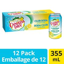 Canada Dry Club Soda Lemon Lime