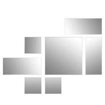 Mex Set of 7 Square and Rectangular Mirrors