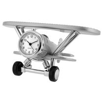 Biplane Collectible Desktop Mini Clock