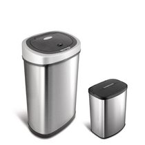 Nine Stars Motion Sensor Touchless 13.2-Gallon and 2.1 Gallon Trash Can Combo