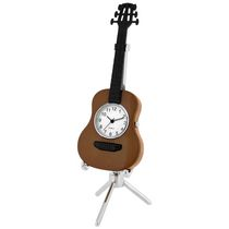 Acoustic Guitar Collectible Mini Desktop Clock
