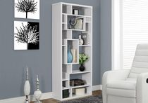 "Monarch Specialties Bookcase  - White, 72""H"
