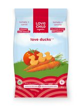 Love Child Organics Love Ducks Organic Corn Snacks - Tomato & Carrot