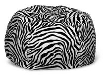 ComfyKids Teen Bean Bag - Zebra