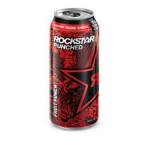 Rockstar Punched Energy + Punch Fruit Punch Energy Drink