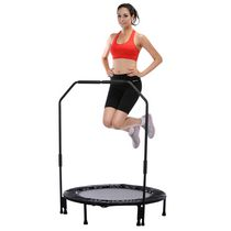 Sunny Health & Fitness 40 Inches Foldable Trampoline with Stabilizing Bar