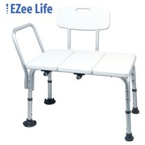 Drive medical gray bathroom safety shower tub bench chair with back for Drive medical bathroom safety shower tub chair