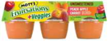 Mott's Fruitsations +Veggies Unsweetened Peach Apple Carrot Sauce