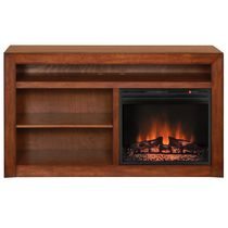 "Muskoka Claire 23"" Burnished Pecan Media Mantel Electric Fireplace"